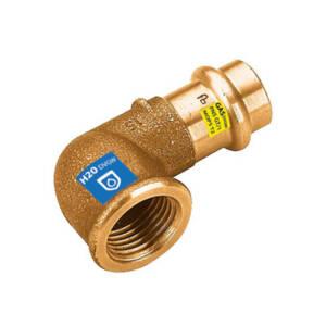 CU zacisk/zapras  kolano brąz  15x1/2` GW - woda i gaz