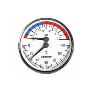 Termomanometr tylny 80  1-6 bar  -axialny