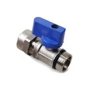 Zawór kulowy mini PEX 16x1/2` niebieski