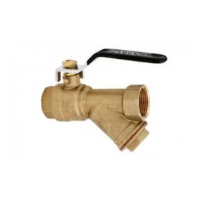 Zawór z filtrem skośnym siatkowym do wody  1/2` Tytan