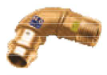 CU zacisk/zapras  kolano brąz 15x1/2` GZ - woda i gaz