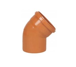Kanaliz. kolano fi 160 <45 pomarańczowe
