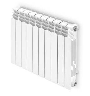 Grzejnik aluminiowy  Ferroli Proteo Hp 600 /żeberko - rozstaw przyłączy 50cm/