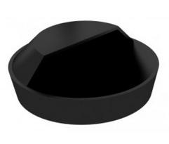 Korek gumowy umywalki - mały /czarny/