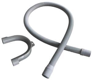 Wąż odpływ z pralki L-150 cm szary  /+ łuk/