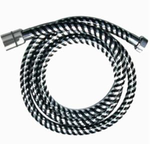 Wąż natryskowy L-150 cm z końc.stożek - czarno/chrom