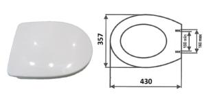 Deska sedesowa półtwarda `kształt U` śruby metal.