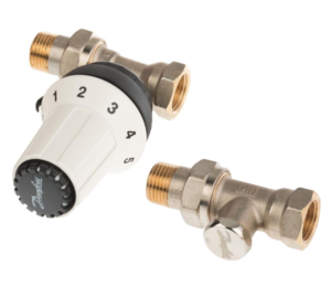 Danfoss komplet termostatyczny Panda Click prosty  013G5164